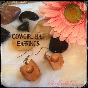 🆕 Leather Cowgirl Hats Handmade Earrings
